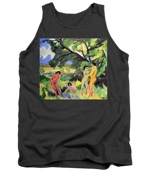 Nudes Playing Under Tree Tank Top
