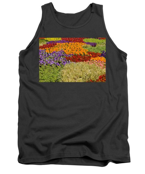 Tank Top featuring the photograph Nursery Potted Garden Plants Arrangement by JPLDesigns