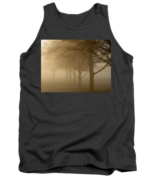 Tank Top featuring the photograph Oaks In The Fog by Greg Simmons