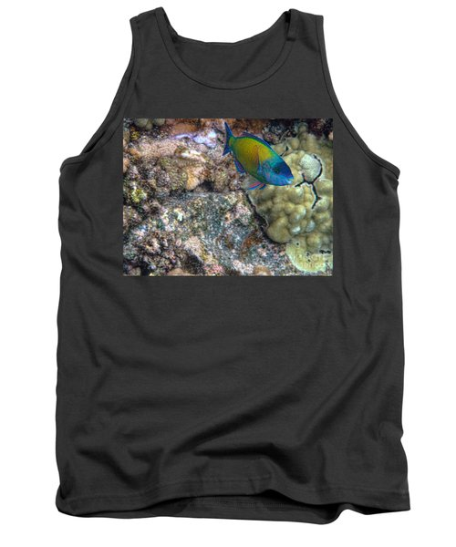 Tank Top featuring the photograph Ocean Color by Peggy Hughes