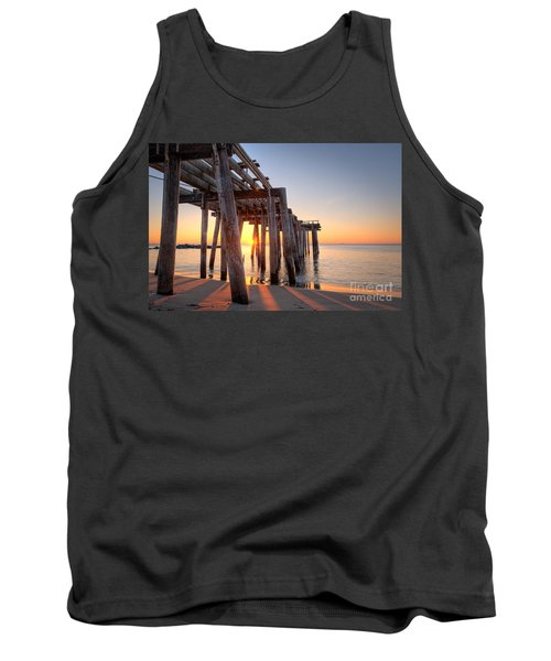 Ocean Grove Pier Sunrise Tank Top