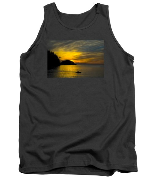 Tank Top featuring the photograph Ocean Sunset At Rosario Strait by Yulia Kazansky