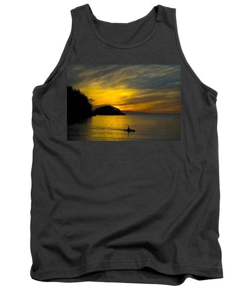 Ocean Sunset At Rosario Strait Tank Top