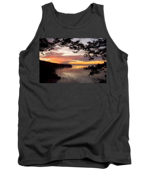 Ocean Sunset Deception Pass Tank Top