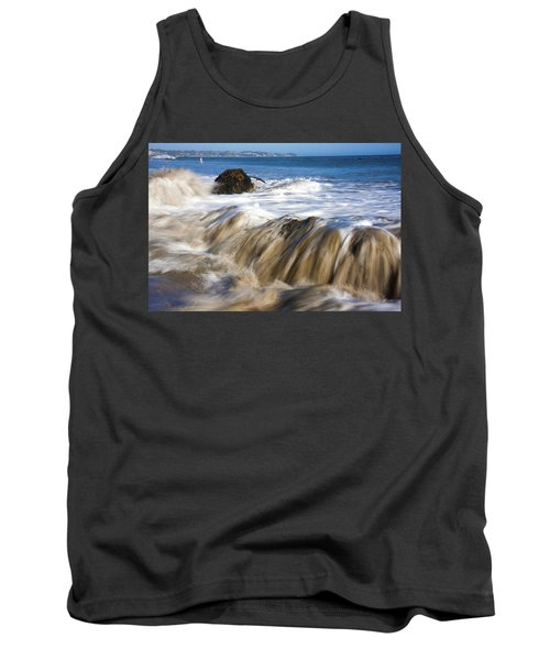 Ocean Waves Breaking Over The Rocks Photography Tank Top by Jerry Cowart