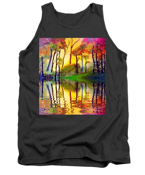 Tank Top featuring the painting October Surprise by Holly Martinson