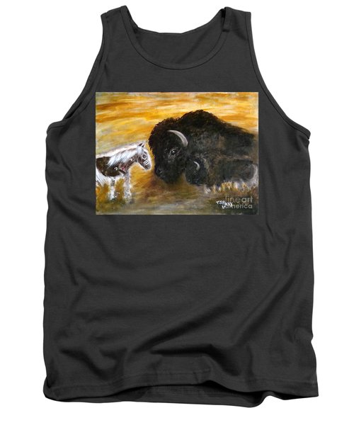 Tank Top featuring the painting Of Proud Heritage by Barbie Batson