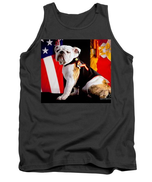 Official Mascot Of The Marine Corps Tank Top by Pg Reproductions