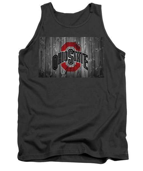 Tank Top featuring the digital art Ohio State University by Dan Sproul