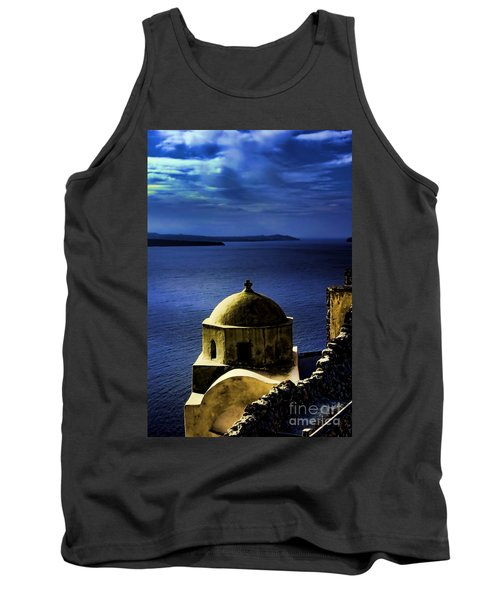 Oia Greece Tank Top by Tom Prendergast