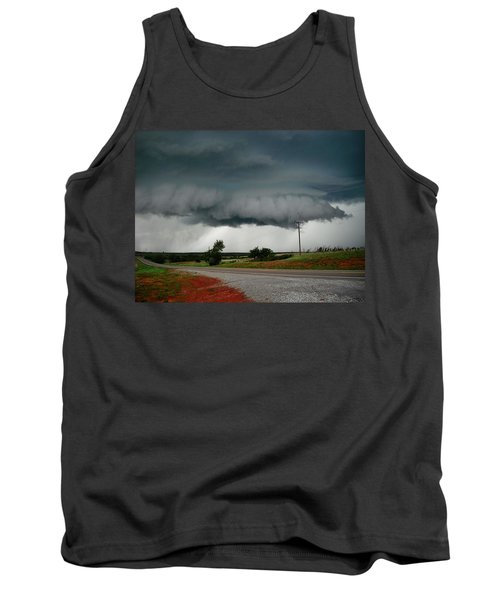 Tank Top featuring the photograph Oklahoma Wall Cloud by Ed Sweeney