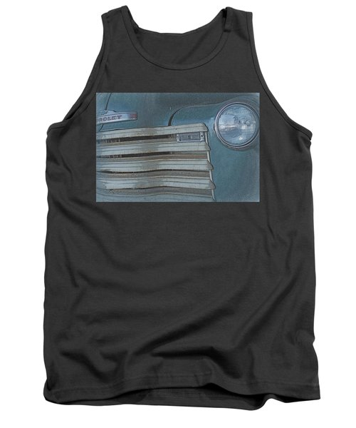 Old Blue Tank Top by Lynn Sprowl