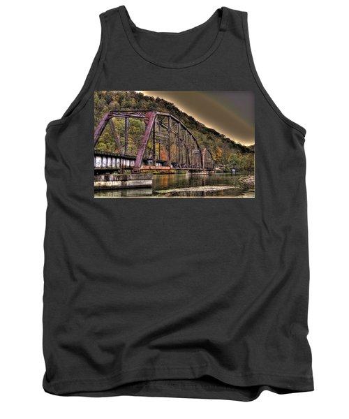 Old Bridge Over Lake Tank Top by Jonny D