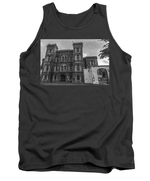 Old City Jail In Black And White Tank Top