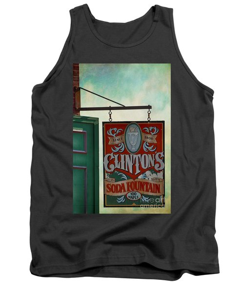 Old Clinton's Soda Fountain Sign Tank Top