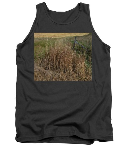 Old Fence Line Tank Top by Donald S Hall