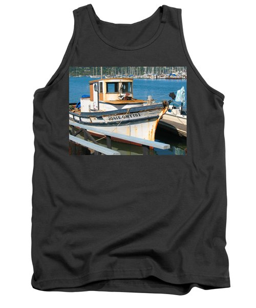 Old Fishing Boat In Sausalito Tank Top by Connie Fox
