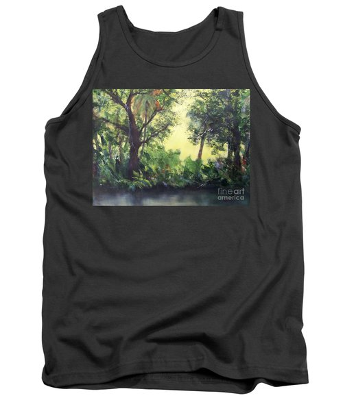 Tank Top featuring the painting Old Florida 2 by Mary Lynne Powers