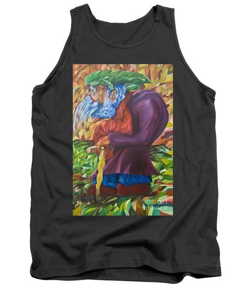 Old Man Collecting Sticks - But Not On The Sabbath Tank Top
