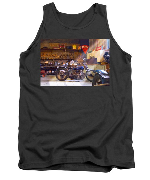 Old Motorcycle Shop 2 Tank Top