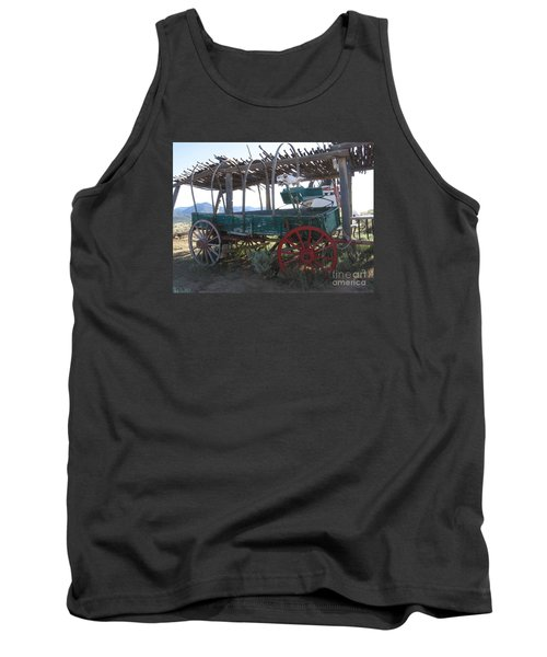 Tank Top featuring the photograph Old Native American Wagon by Dora Sofia Caputo Photographic Art and Design