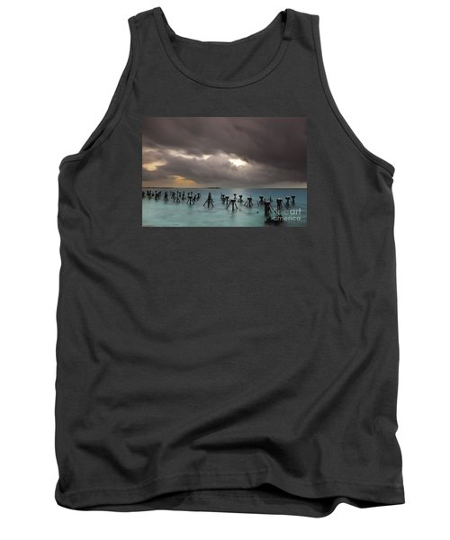 Tank Top featuring the photograph Old Pier In The Florida Keys by Keith Kapple