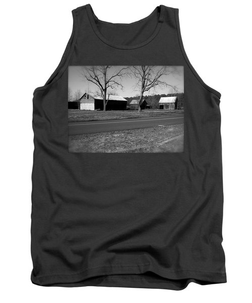 Old Red Barn In Black And White Tank Top by Amazing Photographs AKA Christian Wilson