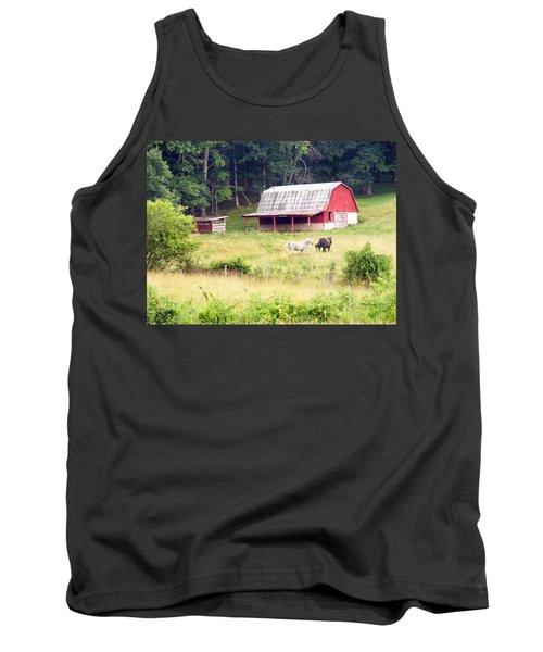 Old Red Barn West Of Brevard Nc Tank Top