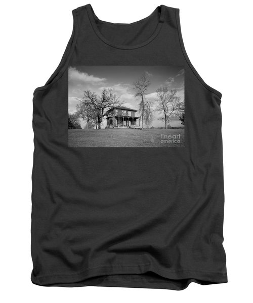 Old Rustic House On A Hill Tank Top