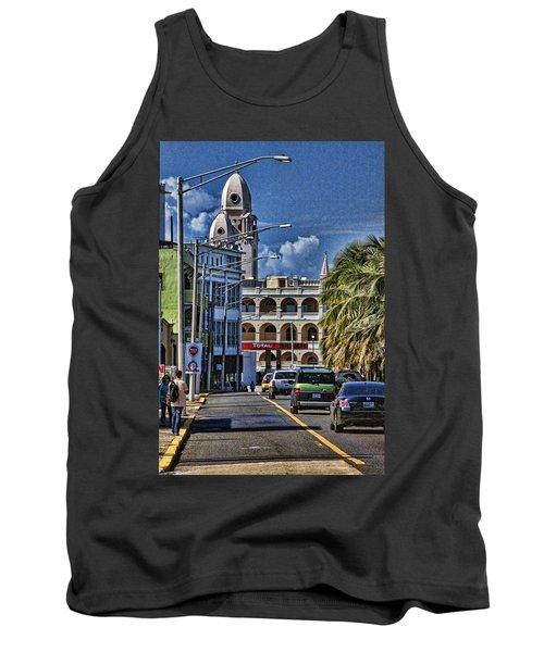 Old San Juan Cityscape Tank Top by Daniel Sheldon