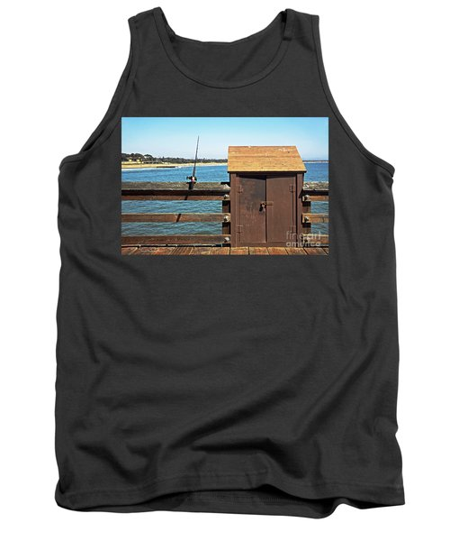 Tank Top featuring the photograph Old Shed On Ventura Pier by Susan Wiedmann