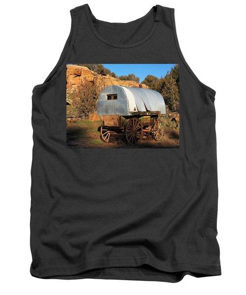 Old Sheepherder's Wagon Tank Top by Nadja Rider