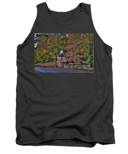 Tank Top featuring the photograph Old Stone Tower At The Edge Of The Forest by Jonny D