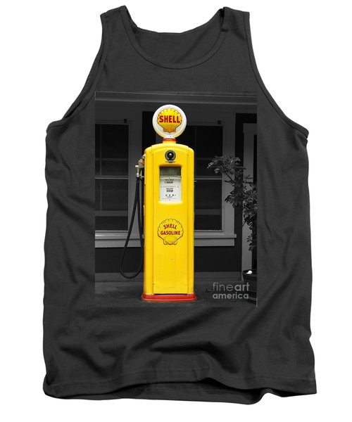 Tank Top featuring the photograph Old Time Gas Pump by David Lawson