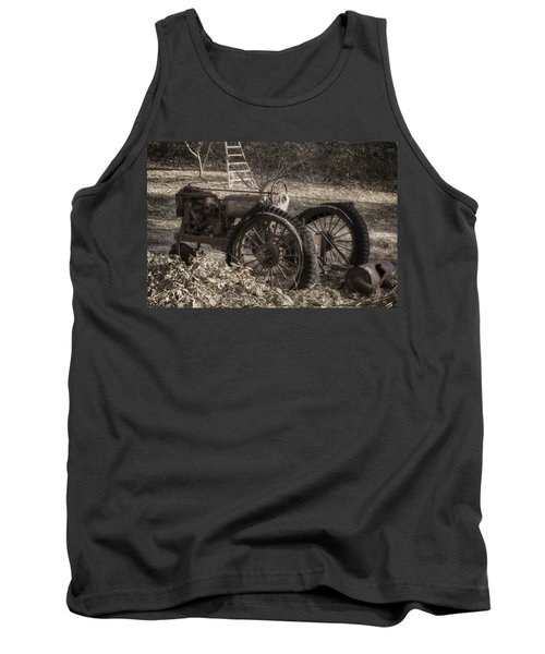 Tank Top featuring the photograph Old Tractor by Lynn Geoffroy