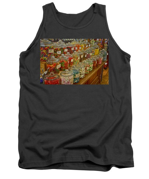 Old Village Mercantile Caledonia Mo Candy Jars Dsc04014 Tank Top by Greg Kluempers