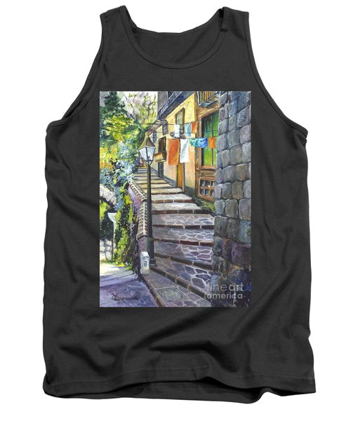 Old Village Stairs - In Tuscany Italy Tank Top by Carol Wisniewski