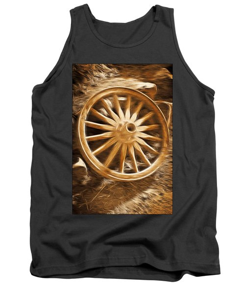 Tank Top featuring the photograph Wheels West by Aaron Berg