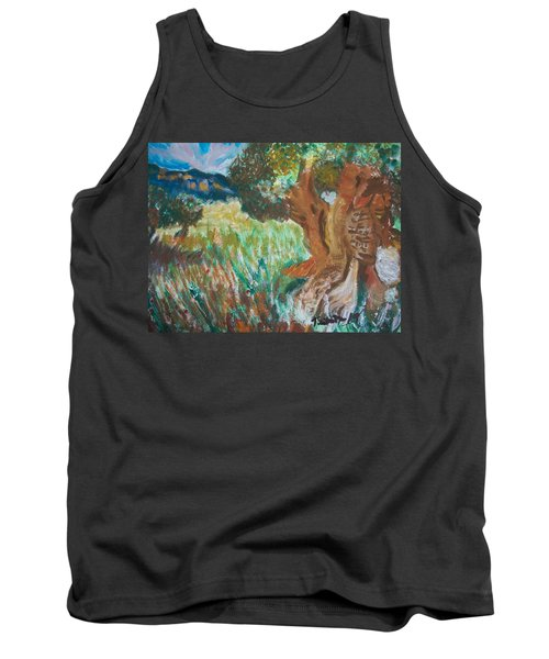 Tank Top featuring the painting Olive Trees by Teresa White