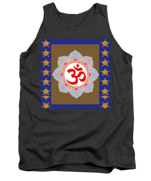 Om Mantra Ommantra Chant Yoga Meditation Tool Tank Top by Navin Joshi