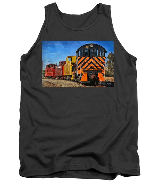 Tank Top featuring the photograph On The Tracks by Peggy Hughes