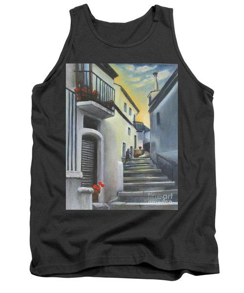 On The Way To Mamma's House In Castelluccio Italy Tank Top by Lucia Grilletto