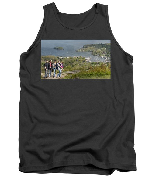 Tank Top featuring the photograph On Top Of Mount Battie by Daniel Hebard