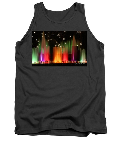Open Air Theatre Rainbow Fountain Tank Top by Living Color Photography Lorraine Lynch