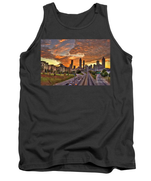 Orange Atlanta Sunset Tank Top