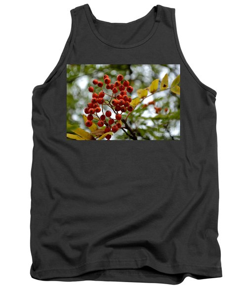 Orange Autumn Berries Tank Top