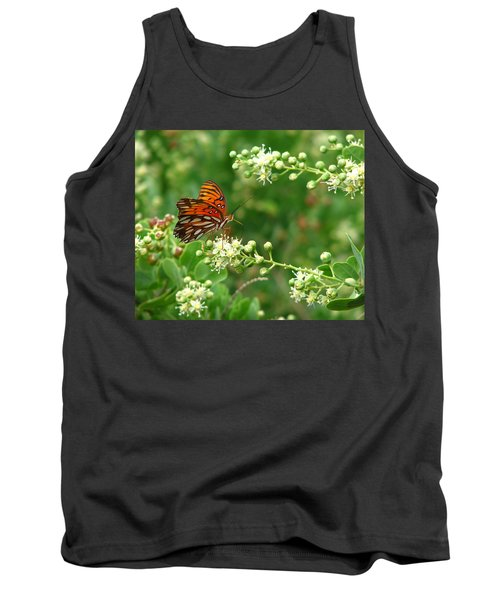 Tank Top featuring the photograph Orange Butterfly by Marcia Socolik