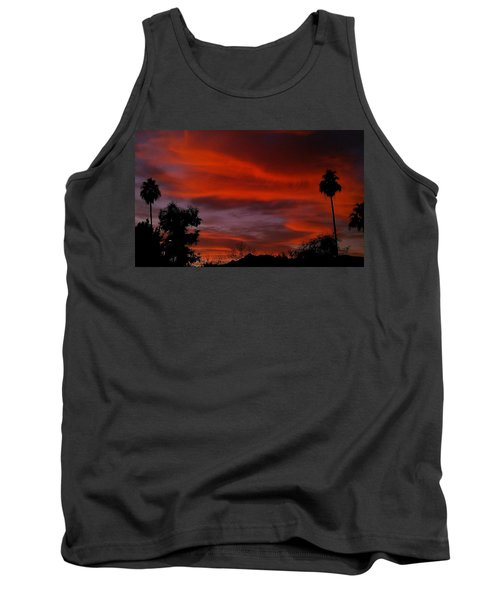 Tank Top featuring the photograph Orange Sky by Chris Tarpening