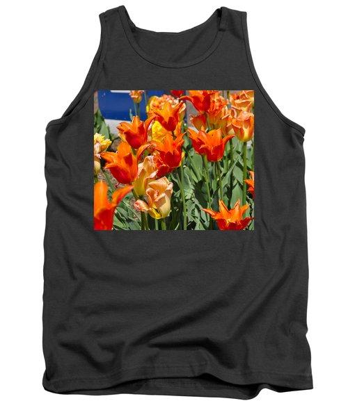 Orange Tulips Tank Top by Jim Brage