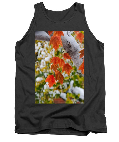 Tank Top featuring the photograph Orange White And Green by Ronda Kimbrow